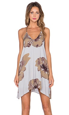 The LDRS Big Floral Dress in Grey & Brown Multi