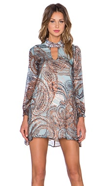 The LDRS Burnout Paisley Mini Dress in Multi