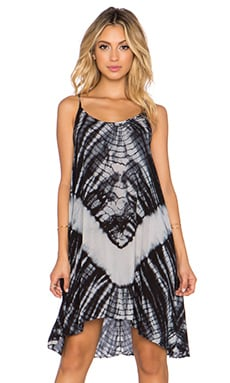 The LDRS Tie Dye Dress in Black & White