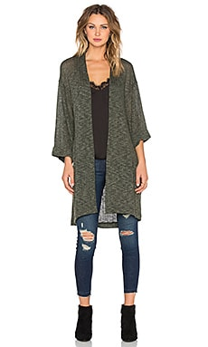 The LDRS Two Tone Cardigan in Green