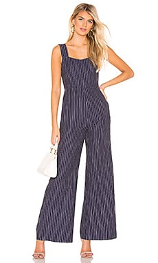 Torri Square Neck Jumpsuit Line & Dot $19