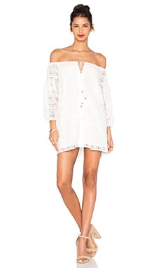 Line & Dot Ami Boho Dress in White