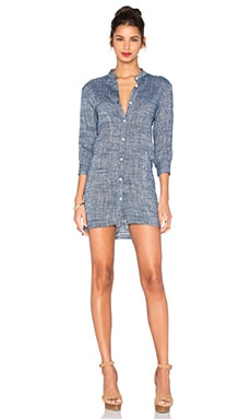 Ravie Shirt Dress in Midnight Blue