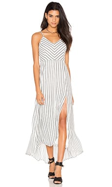 Line & Dot Ville Maxi Dress in White & Black