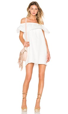 Concorde Ruffle Dress in White