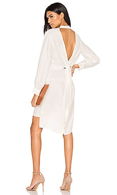Musee Twist Shirt Dress in White