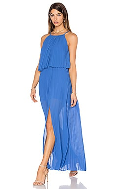 Amelie Pleat Dress in Azure Blue