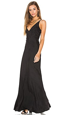Line & Dot Adele Bias Maxi Dress in Black