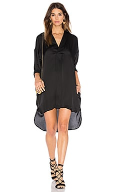 Line & Dot Rampling Shirt Dress in Black