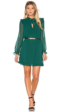 Tautou Frill Dress in Emerald