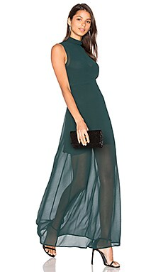 Rima Highneck Maxi Dress in Pine