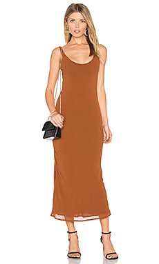 Line & Dot Rima Bias Maxi Dress in Whiskey