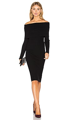 Lea Off Shoulder Dress in Black