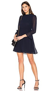 Renee Babydoll Dress in Navy