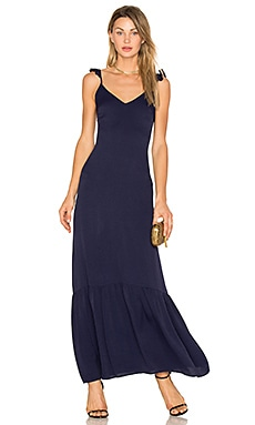 Vella Frill Maxi Dress in Navy