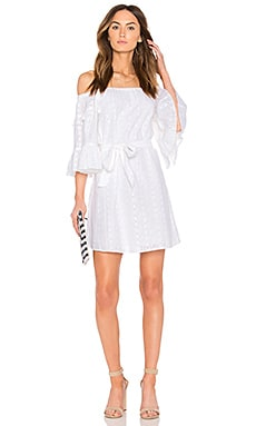 Celia Peasant Dress in White