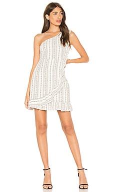 Купить Платье с одним плечом edna - Line & Dot белого цвета