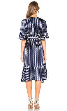 Promo Code Line Dot Elsie Ruffle Wrap Dress