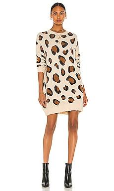 Gianna Leopard Print Dress Line & Dot $104 NEW