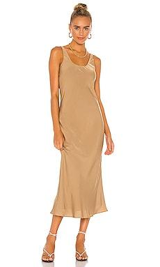 Ariel Scoop Neck Dress Line & Dot $106