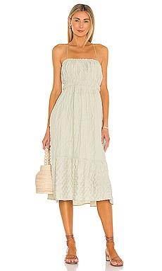 Claire Midi Dress Line & Dot $97