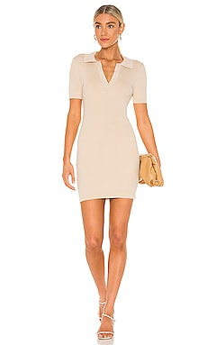 Brittany Ribbed Mini Dress Line & Dot $94