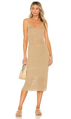 Isabel Crochet Dress Line & Dot $110 NEW