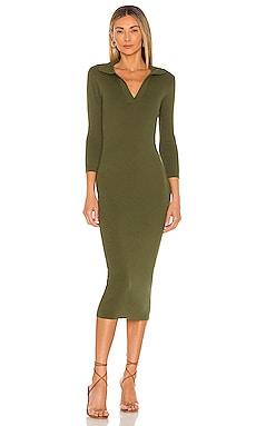 Brittany Ribbed Midi Dress Line & Dot $104 BEST SELLER