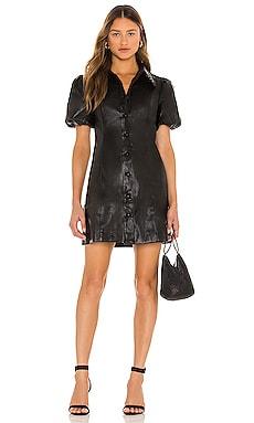 Mika Faux Leather Mini Dress Line & Dot $125 BEST SELLER