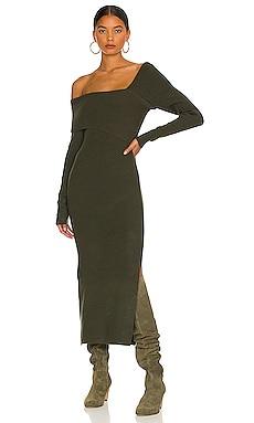 Sylvie Midi Sweater Dress Line & Dot $110 NEW