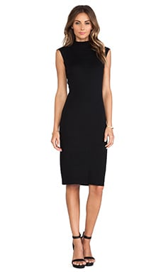 Line & Dot Cher Knit Skimmer Dress in Black