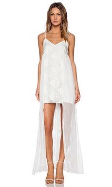 Line & Dot Infinite Maxi Dress in White