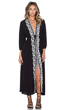 Line & Dot Parisienne Maxi Dress in Black
