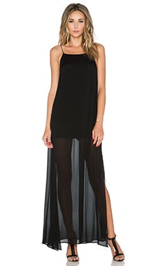 Line & Dot Rebel Sheer Maxi Dress in Black