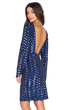 Line & Dot Voila Sequin Mini Dress in Blue