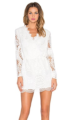 Line & Dot Mon Cherie Tunic Dress in White