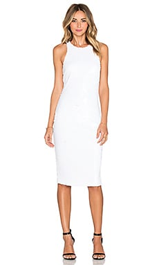 Line & Dot Royale Halter Dress in White
