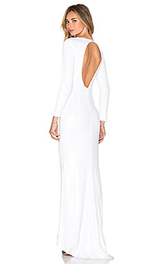 Line & Dot Royale Maxi Dress in White