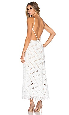 Line & Dot Jardin X Back Dress in White