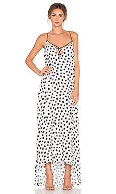 Line & Dot Jacqueline Dot Maxi Dress in Black & Cream