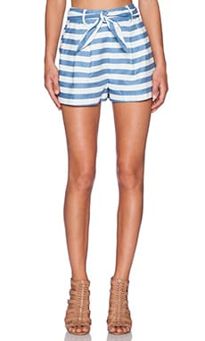 Line & Dot Tomboy Shorts in Denim Stripe