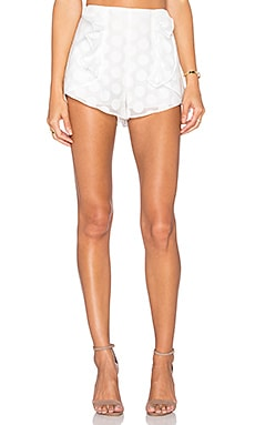 Soleil Dot Short in White