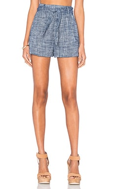 Line & Dot Ravie Tie Short in Midnight Blue