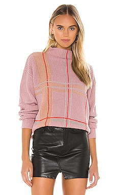 Violet Checkered Sweater Line & Dot $97