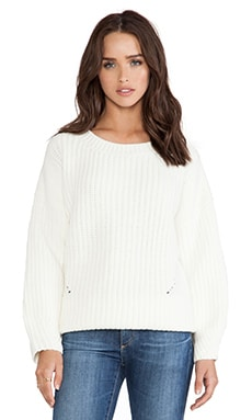 Line & Dot Horowitz Knit Pullover in Off White