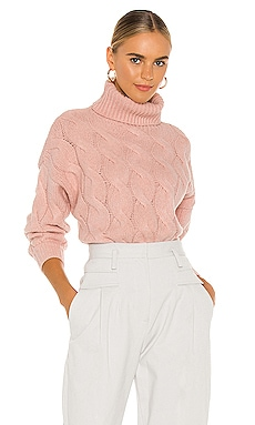 Aimee Cable Knit Sweater Line & Dot $92