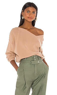 Favorite Off Shoulder Sweater Line & Dot $90