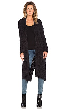Line & Dot Jeanne Long Cardigan in Black