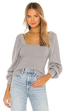 Kimberly Square Neck Sweater Line & Dot $103
