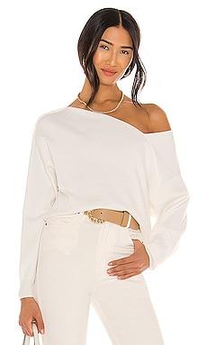 Favorite Off Shoulder Sweater Line & Dot $90 BEST SELLER